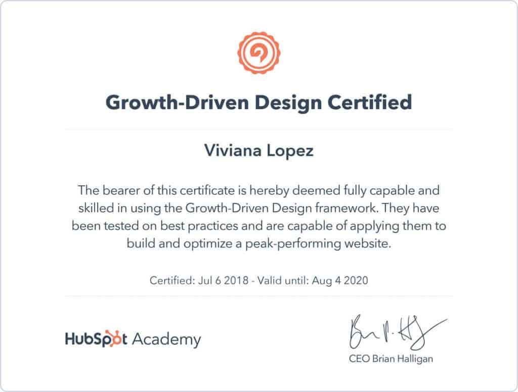 Certificación Hubspot